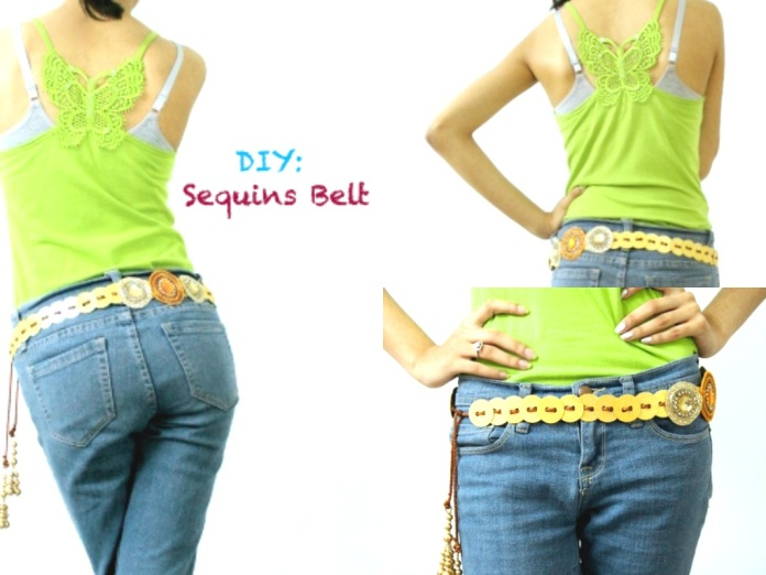 DIY - Sequins Belt