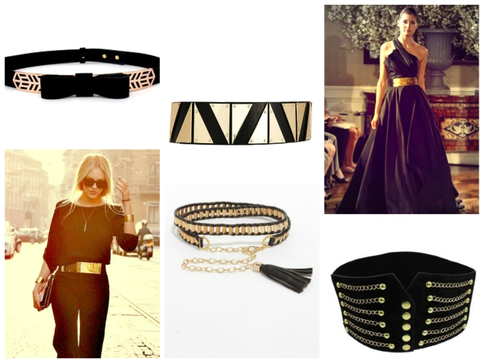 fabspiration black and gold belt