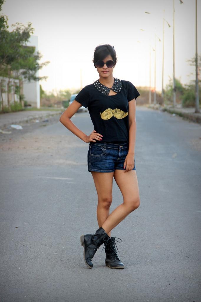mosh wear women blotchy tshirt print